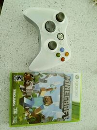 Minecraft game and wireless remote for xbox360