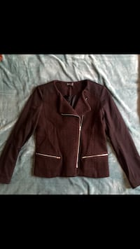 manteau de cuir marron