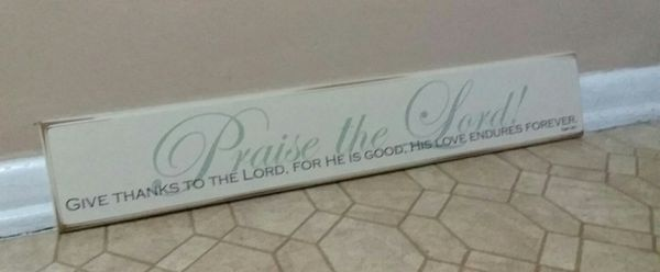 """""""PRAISE THE LORD"""" WALL DECOR......EXCELLENT CONDITION"""