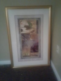 gold framed abstract painting 27 km