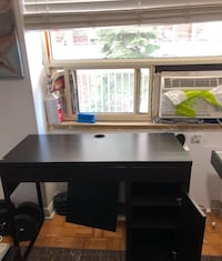 Black and white wooden desk