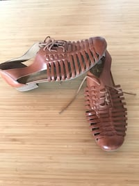 Franco Sarto brown leather sandals size 8