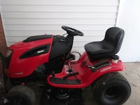 red and black ride on mower ASHBURN