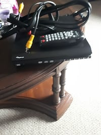 black DVD player with remote control St. Catharines, L2R 2A9