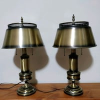 Pair of Mid-century brass table lamps Toronto, M2J 2C2