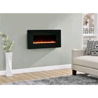 Wall mount fireplace electric Black 784 km