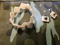 Hand made earrings and bracelet set  Kapolei, 96707