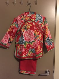 Beautiful Chinese girl costume set /lining  for 8-12years old Vancouver, V6B