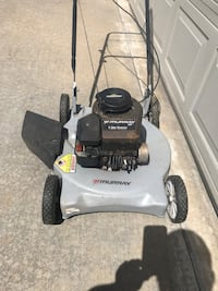 gray and black Craftsman push mower
