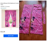 Minnie mouse curtain set like new- missing 1 tie Antioch, 94509