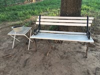white and black metal bench Wichita, 67216