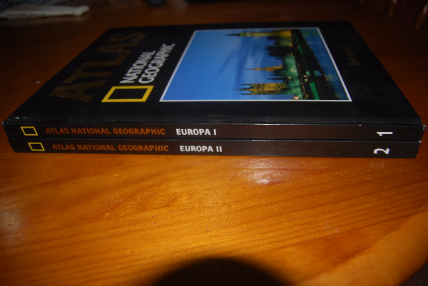 1-2 Atlas National Geographic Europa livros