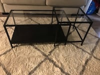 Black Glass top coffee table with detachable side table piece  Toronto, M8Z