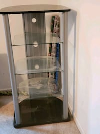 Black framed glass display cabinet Surry