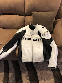white and black zip-up jacket Toronto, M9N 1A7