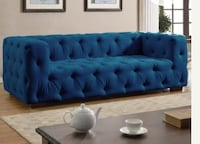 Monterrey Tufted Sofa (Blue)