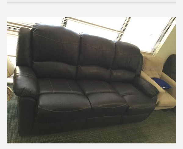 Used Brown Faux Leather Recliner Sofa For Sale In Plano Letgo