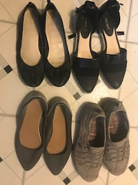2 Pairs of Nine West Black Shoes(size8h), Gap Gray Flat Shoes(size8), Sketchers Walking Shoes(size8h) Wahiawa, 96797