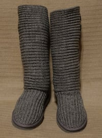"""UGGAustralia """"Classic Cardy"""" Tall Knit Boots Delta"""