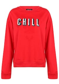 Women Chill Letter Print Lightweight Sweatshirt Pullover Silver Spring, 20902