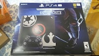 black and gray Sony PS4 controller box