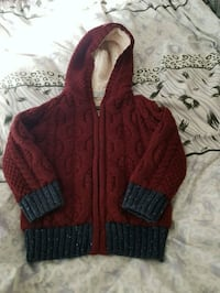Kid's zip-up hooded knitted sweater size 18-24  Fr London, N6C 4W2