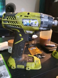 Ryobi impact gun and drill with 1 battery no charger