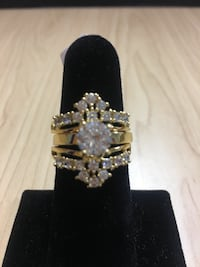 Gold Plated CZ Wedding Ring Set  Norfolk
