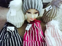 assorted knitted beanies