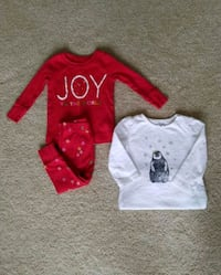 12 month Christmas pajamas and onsie Stow