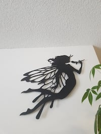 Large ready to hang fairy metal wall art  Kingston