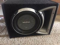 Black and gray rockford fosgate subwoofer speaker Anchorage, 99507