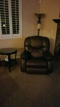 black leather padded rolling chair Las Vegas, 89148