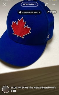 Barely used adjustable blue jays hat  London, N5W 6E2