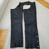 Leather motorcycle riding chaps Woodbridge