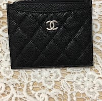 Black leather Chanel wallet  SF