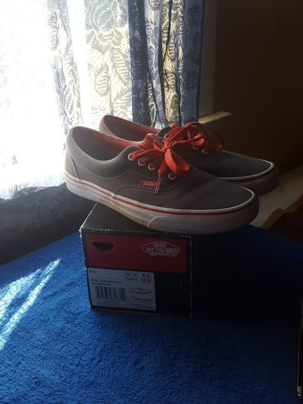 5c37ca1ab5d9 Used vans era charcoal red shoes for sale in Los Angeles - letgo