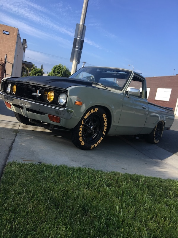 1974 CUSTOM DATSUN 620 PICKUP GRAND NATIONAL TWIN TURBO ENGINE SWAP