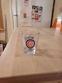 Chicago Cubs World Series Shot Glass Chicago, 60626