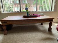 Vintage carved coffee table Somerville, 02143