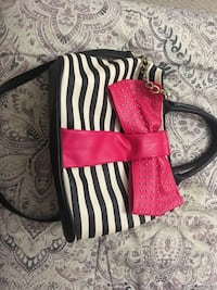 women's white and pink striped tote bag Germantown, 20874