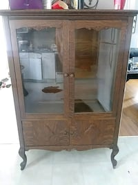 brown wooden framed glass cabinet London, N5Y 3J4
