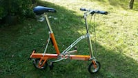 orange and gray folding bike Philadelphia