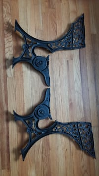 Cast iron school desk frames Danbury