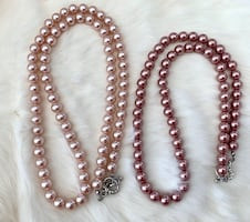 NEW Acrylic Pearl Necklace Set
