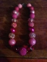 pink and purple beaded necklace Prince Frederick, 20678