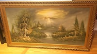 brown wooden framed painting of house Mississauga
