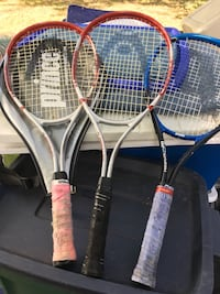 Carbon tennis rackets only 15 each