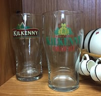 Lot of two Kilkenny Cream Ale Beer Glasses