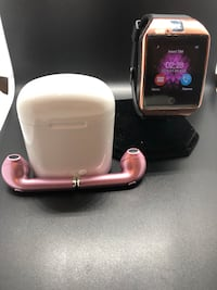 ROSE GOLD SPECIAL!  ANDROID SMART WATCH&EAR PODS DELIVER 2 MOST AREAS!